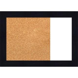 Shiplap Navy Wood Framed Cork/White Dry Erase Combo Board