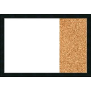 Mezzanotte Black Wood Framed White Dry Erase/Cork Combo Board
