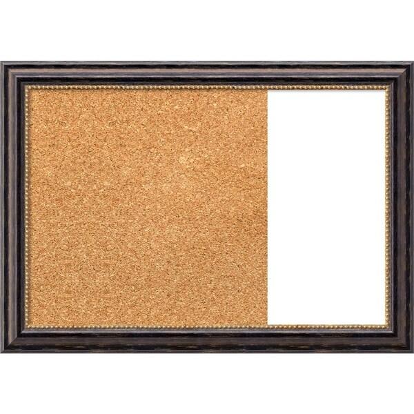 Tuscan Rustic Wood Framed Cork/White Dry Erase Combo Board