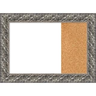 Silver Luxor Wood Framed White Dry Erase/Cork Combo Board