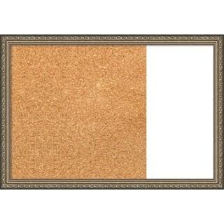 Parisian Silver Wood Framed Cork/White Dry Erase Combo Board