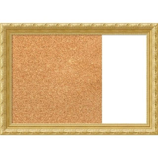 Versailles Gold Wood Framed Cork/White Dry Erase Combo Board
