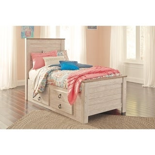 Willowton Whitewash Panel Storage Bed.