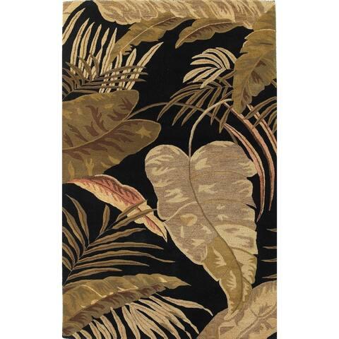 Domani Camila Midnight Tropics Wool Hand-tufted Area Rug