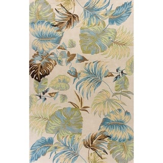 Domani Camila Ivory/Blue Botanical Tropics Area Rug
