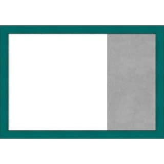 French Teal Rustic Wood Framed White Dry Erase/Magnetic Combo Board