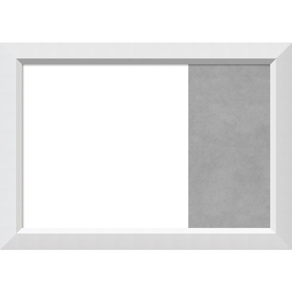 Blanco White Wood Framed White Dry Erase/Magnetic Combo Board