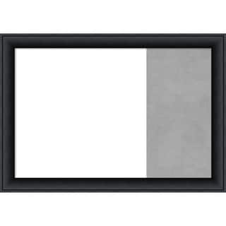 Nero Black Wood Framed White Dry Erase/Magnetic Combo Board