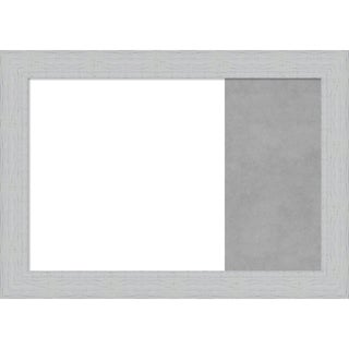 Shiplap White Wood Framed White Dry Erase/Magnetic Combo Board