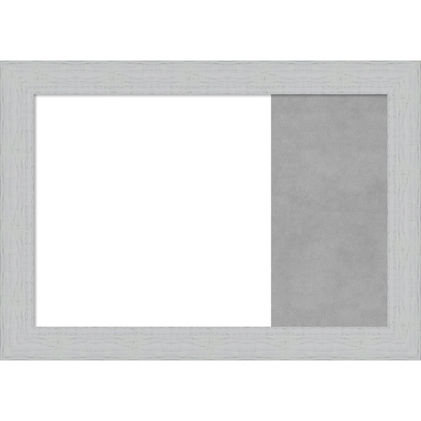 Shiplap White Wood Framed White Dry Erase/Magnetic Combo Board