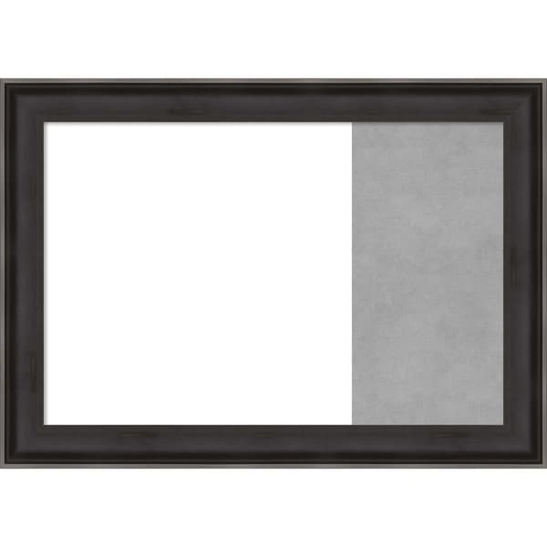 Allure Charcoal Wood Framed White Dry Erase/Magnetic Combo Board
