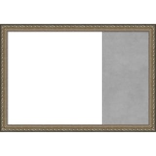 Parisian Silver Wood Framed White Dry Erase/Magnetic Combo Board
