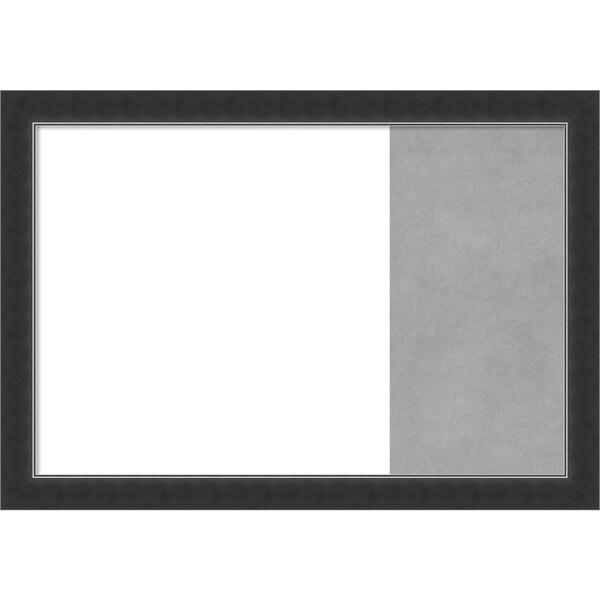 Corvino Narrow Black Wood Framed White Dry Erase/Magnetic Combo Board