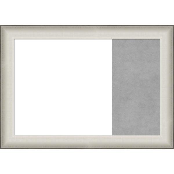 Allure White Wood Framed White Dry Erase/Magnetic Combo Board