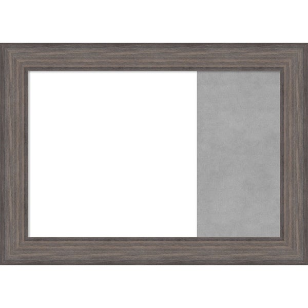 Country Barnwood Wood Framed White Dry Erase/Magnetic Combo Board