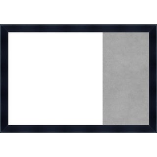 Madison Black Wood Framed White Dry Erase/Magnetic Combo Board