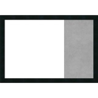 Mezzanotte Black Wood Framed White Dry Erase/Magnetic Combo Board