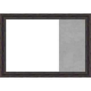 Rustic Pine Narrow Wood Framed White Dry Erase/Magnetic Combo Board