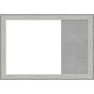 Bel Volto Silver Wood Framed White Dry Erase/Magnetic Combo Board