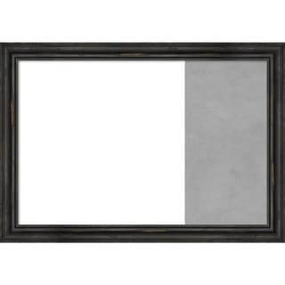 Rustic Pine Black Wood Framed White Dry Erase/Magnetic Combo Board