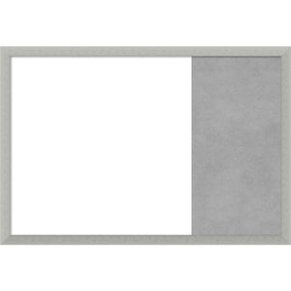 Silver Leaf Wood Framed White Dry Erase/Magnetic Combo Board