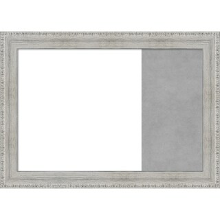 Tribeca Black Wood Framed White Dry Erase/Magnetic Combo Board