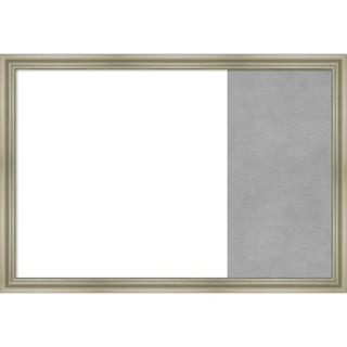 Warm Silver Swoop Wood Framed White Dry Erase/Magnetic Combo Board