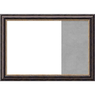 Tuscan Rustic Wood Framed White Dry Erase/Magnetic Combo Board