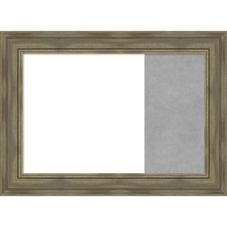 Alexandria Greywash Wood Framed White Dry Erase/Magnetic Combo Board