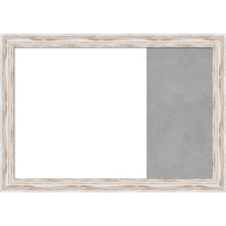 Alexandria White Wash Wood Framed White Dry Erase/Magnetic Combo Board