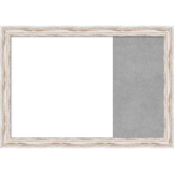 Alexandria White Wash Wood Framed White Dry Erase/Magnetic Combo Board