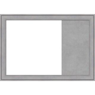 Graywash Wood Framed White Dry Erase/Magnetic Combo Board