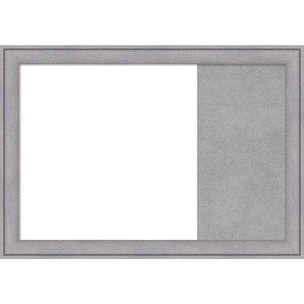 Graywash Wood Framed White Dry Erase/Magnetic Combo Board