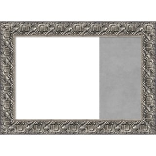 Silver Luxor Wood Framed White Dry Erase/Magnetic Combo Board