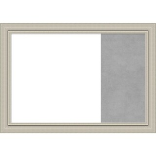 Romano Silver Narrow Wood Framed White Dry Erase/Magnetic Combo Board