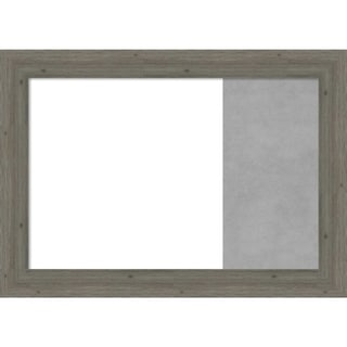 Fencepost Grey Narrow Wood Framed White Dry Erase/Magnetic Combo Board