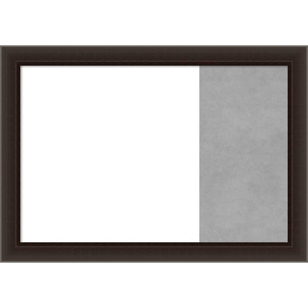 Romano Espresso Wood Framed White Dry Erase/Magnetic Combo Board