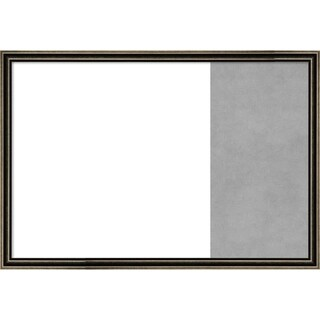 Pewter Scoop Wood Framed White Dry Erase/Magnetic Combo Board