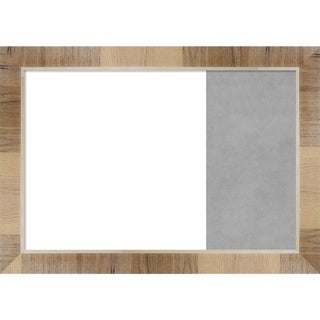 Natural White Wash Wood Framed White Dry Erase/Magnetic Combo Board
