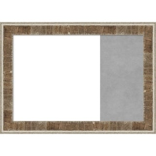 Farmhouse Brown Wood Framed White Dry Erase/Magnetic Combo Board