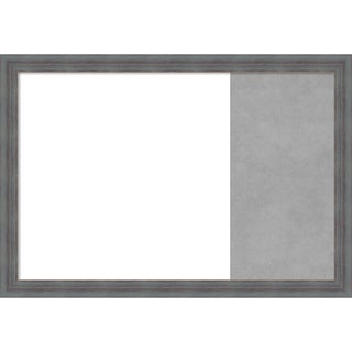 Dixie Blue Grey Rustic Framed White Dry Erase/Magnetic Combo Board