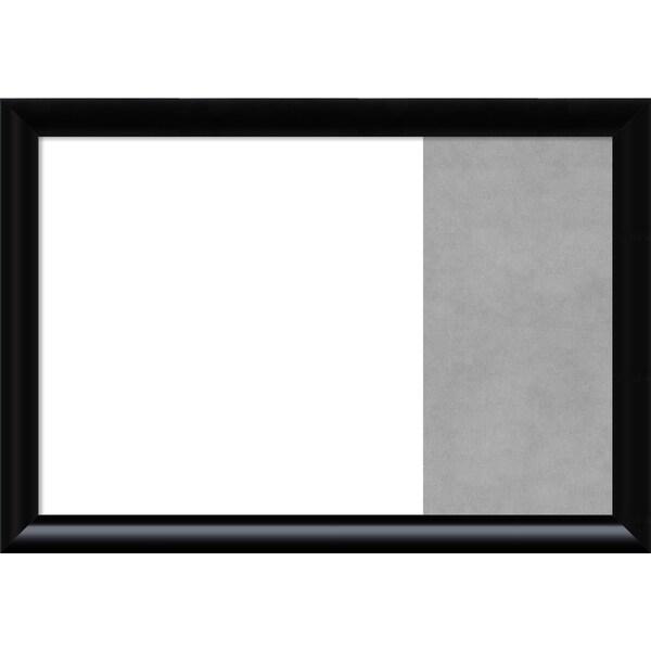 Steinway Black Scoop Wood Framed White Dry Erase/Magnetic Combo Board