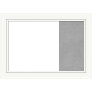 Craftsman White Wood Framed White Dry Erase/Magnetic Combo Board