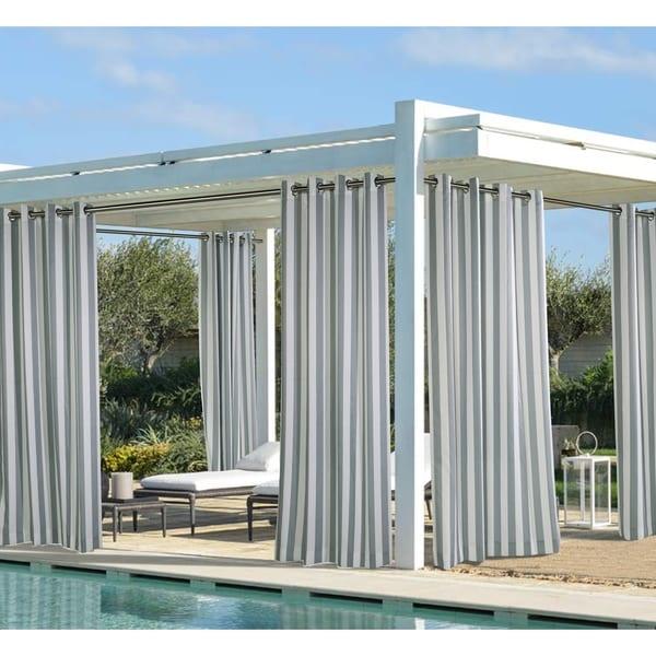 Coastal Stripe Outdoor Panel by Havenside Home