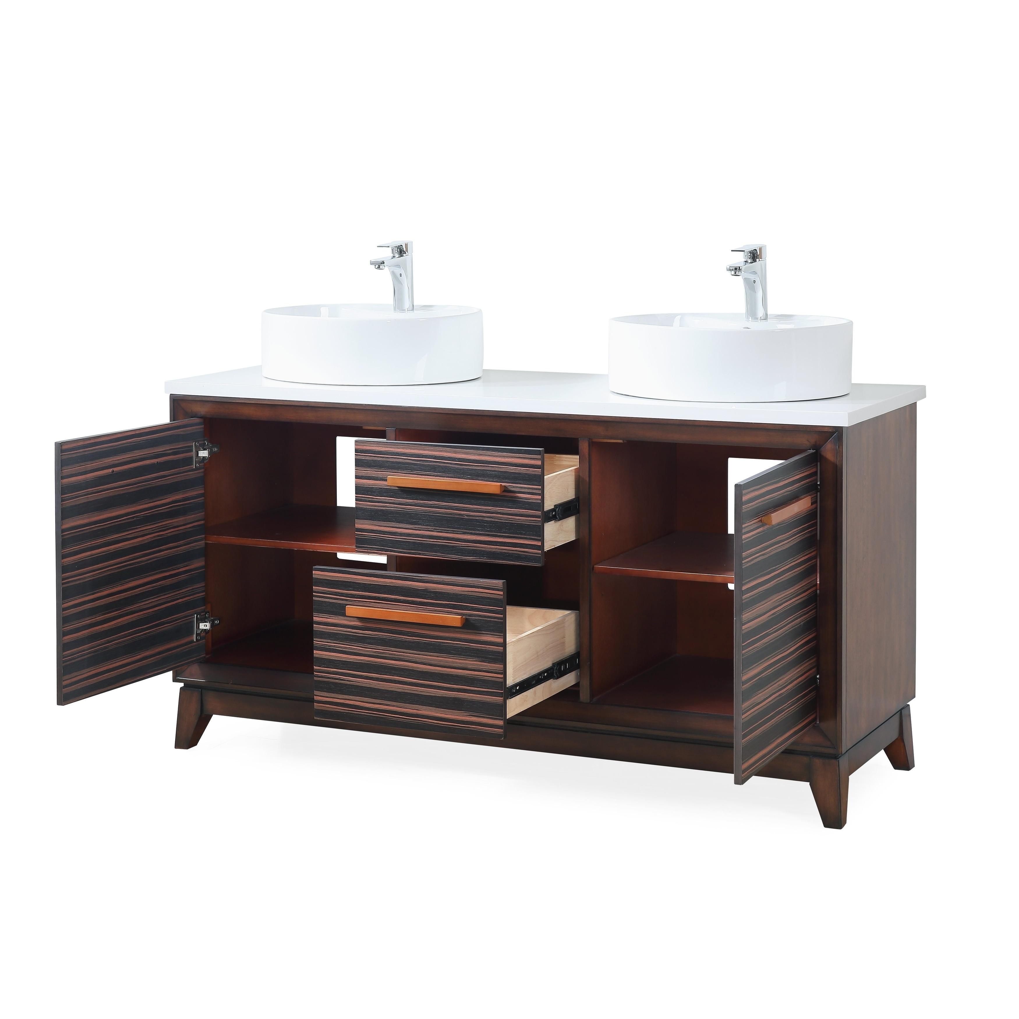 63 Tennnat Brand Arturo Double Sink Art Deco Bathroom Vanity Overstock 27283286