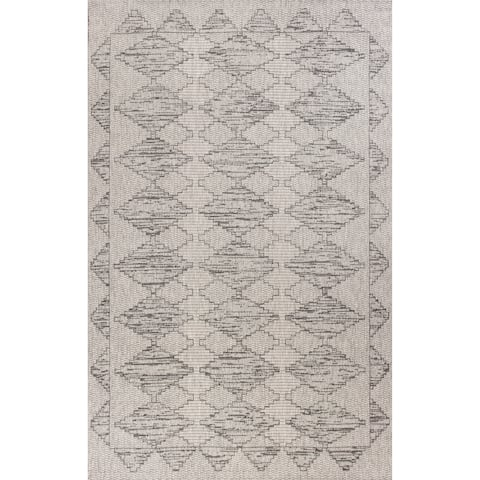Domani Nomad Distressed Geometric Outdoor Area Rug