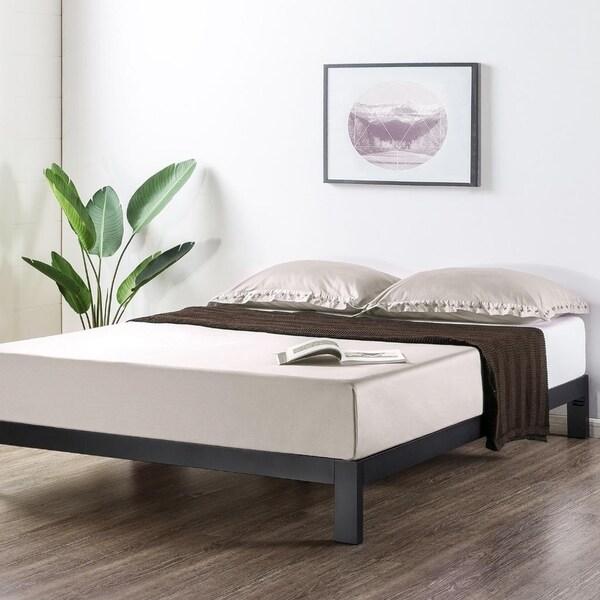 Shop Crown Comfort Heavy Duty Metal 10 Inch Platform Bedwooden Slat