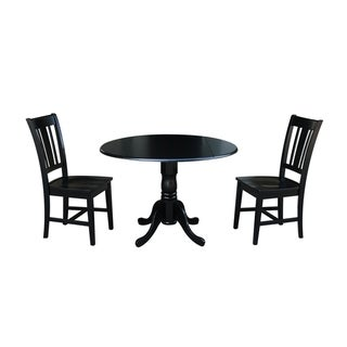 """42"""" Dual Drop Leaf Table With 2 San Remo Chairs"""