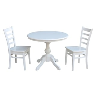 "36"" Round Top Pedestal Table - With 2 Emily Chairs"