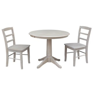 """36"""" Round Extension Dining Table With 2 Madrid Chairs"""